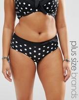Marie Meili Katana Plus Size Polka Dot Bikini Bottoms