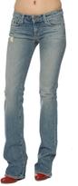 Paige Premium Denim Benedict Canyon Bootcut Jeans in Light Stretch Destruction