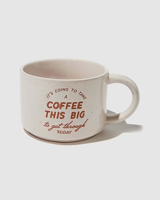 Typo - Brown All Stationery - Big Hit Mug - Size One Size at The Iconic