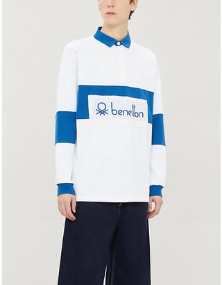 Benetton Logo-embroidered cotton polo shirt