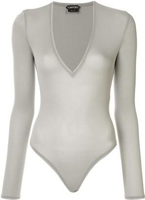 Tom Ford Deep V Neck Bodysuit