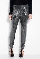 Sequin Deep Pocket Pleat Front Pant