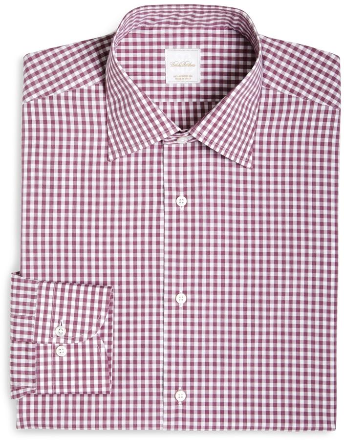 Brooks Brothers Gingham Woven Dress Shirt