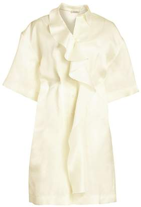 Nina Ricci Silk Organza Ruffle Dress