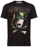Givenchy Cuban Army Skull T-shirt