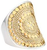Anna Beck Gold-Plated Beaded Saddle Ring, Size 6.0
