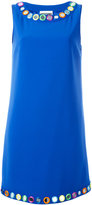Moschino mirror embroidered shift dress - women - Polyester/Acetate/Rayon/Triacetate - 42