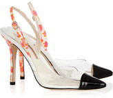 Sophia Webster Daria leather and PVC slingbacks