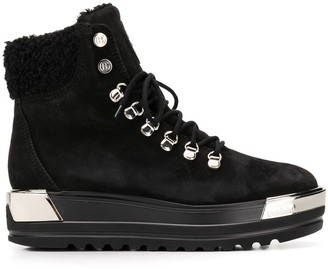 Baldinini Lace-Up Flatform Boots