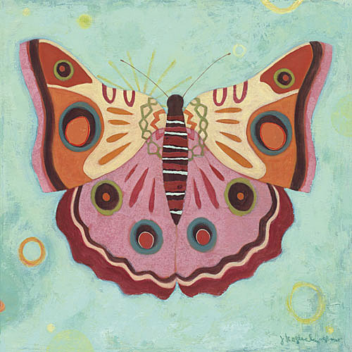 Aqua Butterfly Canvas Reproduction