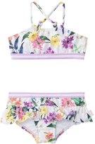 Seafolly Girls' Tangled Garden Ruffle Tankini Two Piece Set (6mos7yrs) - 8137077