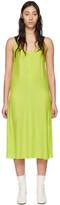 Rag & Bone Green Silk Colette Slip Dress