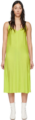 Rag & Bone Green Silk Colette Slip Dress