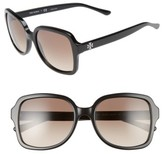 Tory Burch Women's 55Mm Square Sunglasses - Black