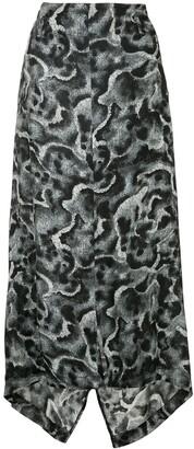 Yohji Yamamoto Pre-Owned Patterned Asymmetric Skirt