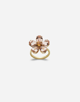 Dolce & Gabbana Yellow Gold Ring With Flower