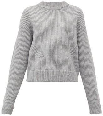 Proenza Schouler White Label Ribbed Wool Sweater - Womens - Grey