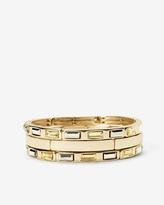 White House Black Market Gem-Baguette Stretch Bracelet Set