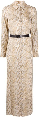 MICHAEL Michael Kors Snakeskin Print Shirt Dress