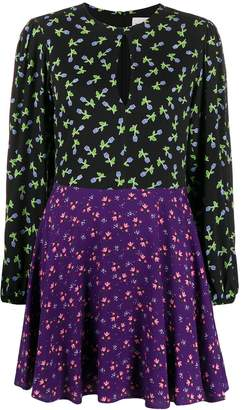 Blumarine Be Floral Print Panelled Dress