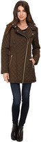 Jessica Simpson Asymmetrical Zip Quilt with Hood