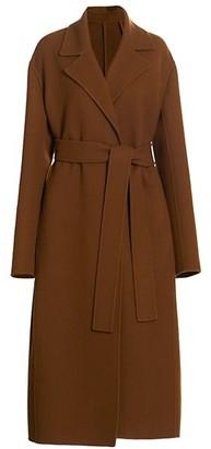 The Row Malika Wool-Blend Long Belted Coat
