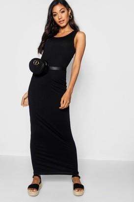 boohoo Scoop Front Jersey Maxi Dress