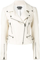 Tom Ford leather biker jacket - women - Lamb Skin - 40