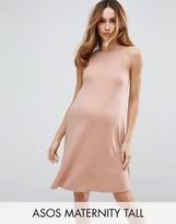 Asos TALL Rib Swing Mini Dress