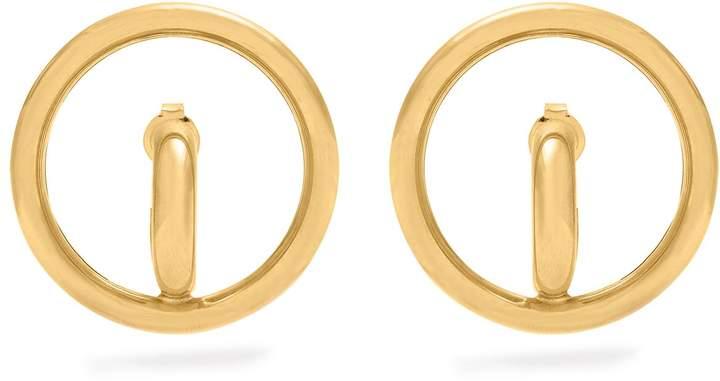 Charlotte Chesnais Saturn gold-plated earrings