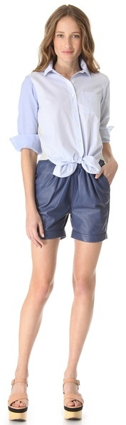 Sonia Rykiel Sonia by Cotton Combo Tie Shirt