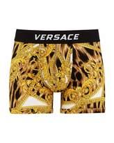 Versace Men's Graphic Long Boxer Briefs