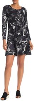 Papillon Floral Sketch Fit & Flare Sweater Dress