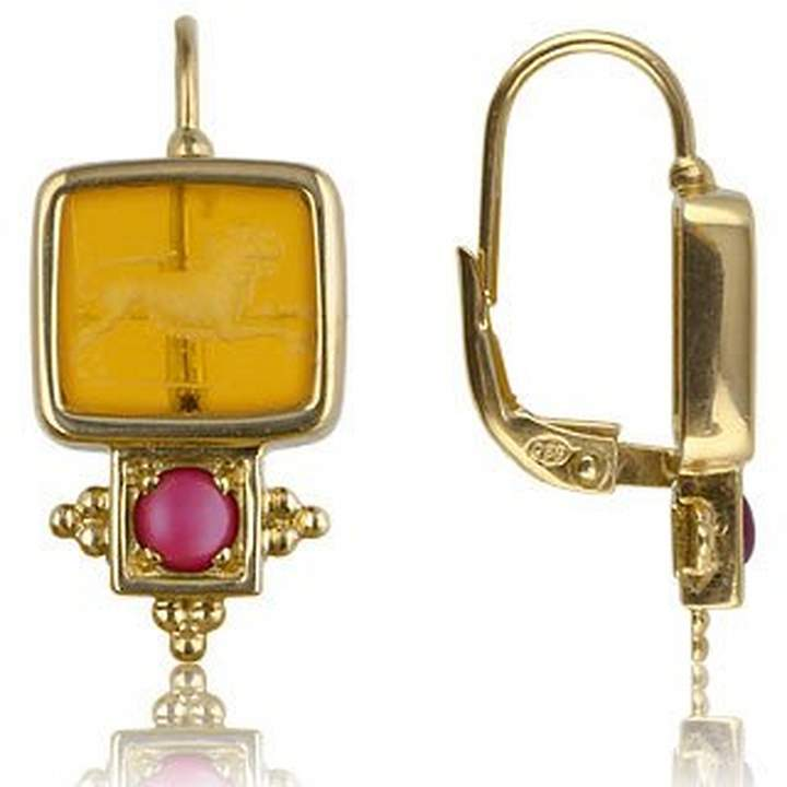 Tagliamonte Classics Collection - Ruby and 18K Gold Earrings