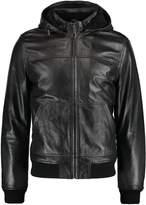 Pier One Leather jacket black