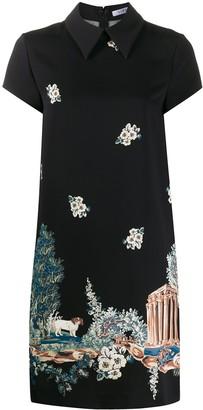 VIVETTA graphic print short-sleeve dress