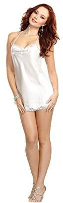 """Dreamgirl Women's Chemise with Rhinestone """"Bride"""" Accent Negligee,14 (Size:Large)"""