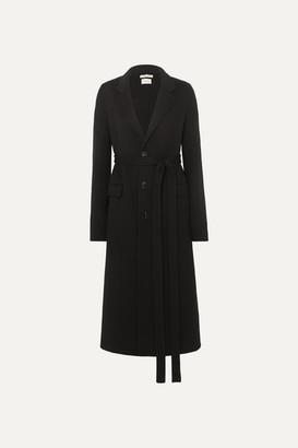 Bottega Veneta Belted Wool Coat - Black