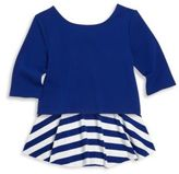 Ralph Lauren Toddler's, Little Girl's & Girl's Two-Piece Top & Striped Skirt Set