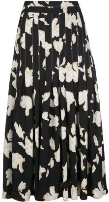 Proenza Schouler Iris print pleated skirt