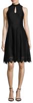 Donna Ricco Mandarin Flared Dress