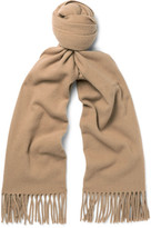 Acne Studios Canada Narrow Virgin Wool Scarf - Tan