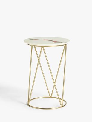 John Lewis & Partners Belle Marble Side Table, White
