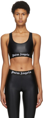 Palm Angels Black Logo Sports Bra