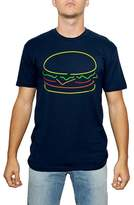 Kid Dangerous Men's Neon Cheeseburger Graphic T-Shirt