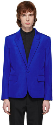 Haider Ackermann Blue Silk Classic Blazer