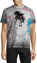 PRPS Paint-Splattered Graphic Short-Sleeve T-Shirt, Black/Multi