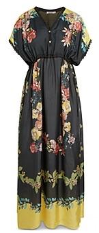 Johnny Was Ginny Floral Print Silk Dress
