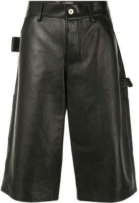 Bottega Veneta Knee-Length Leather Shorts