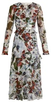 Erdem Meg silk-voile ruffle-trimmed dress